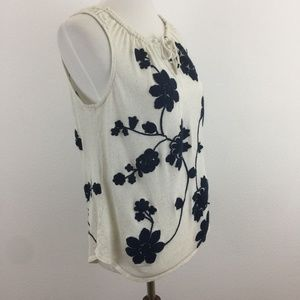 Lucky Brand Tank w/ Floral Embroidered Design